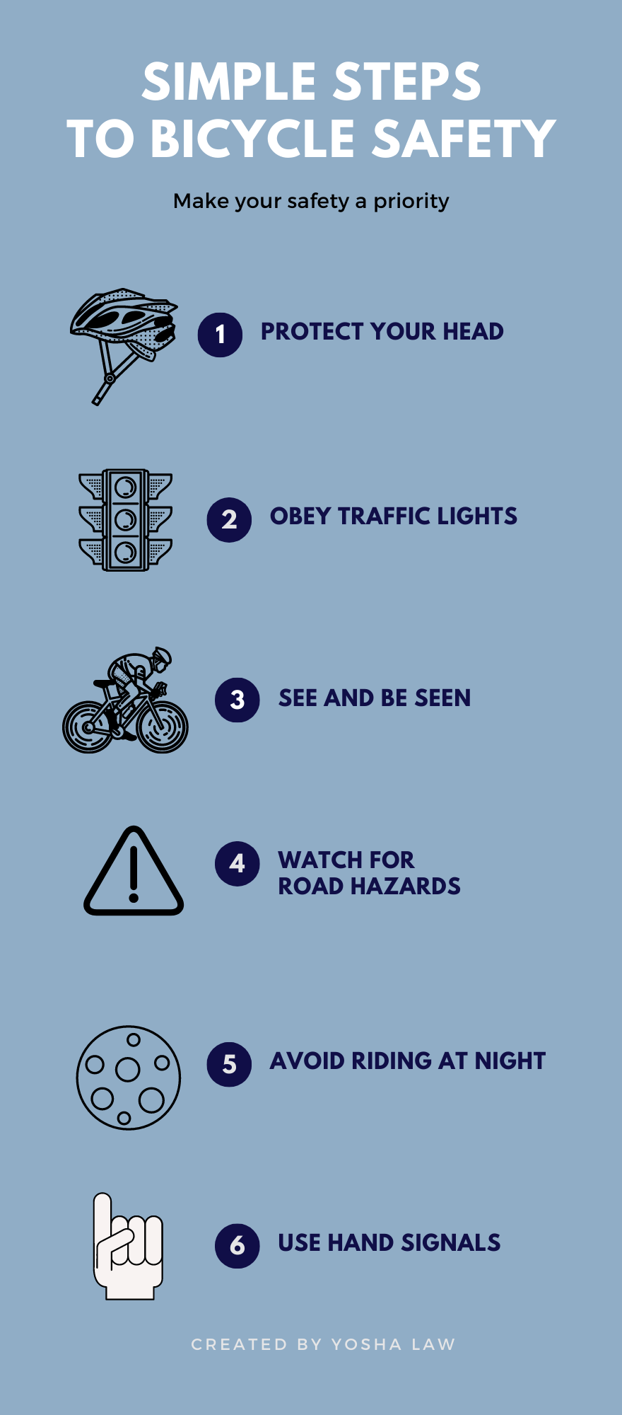 bicycle safety info graphic
